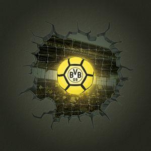 BVB Borussia Dortmund LED Lampe 3D Wandtattoo Wand Sticker Aufkleber Fußball