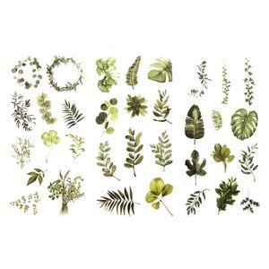 Oblique Unique 34 Sticker Blumen Pflanzen Blätter Aufkleber Vintage Deko Scrapbooking Kinder Basteln