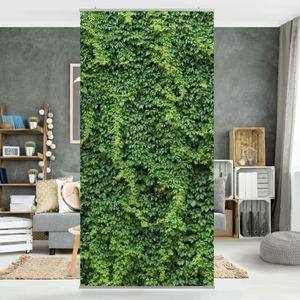 Raumteiler - Efeu 250x120cm, Aufhängung:inkl. transparenter Halterung