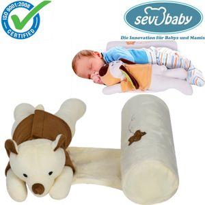 Sevibaby Baby Kopfkissen Seitenlagerungskissen mit Kuscheltier BEAR  9366-27 Kissen