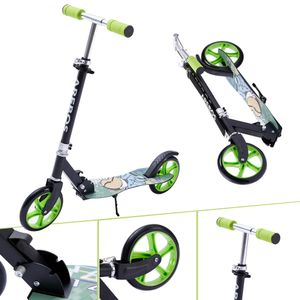 AREBOS Tretroller Kickroller Cityroller Kinderroller Erwachsene Scooter Grün