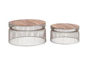 Couchtisch Set Bling Bling Gitterkorb Tisch Beistelltisch Sofatisch Korbtisch