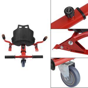 Hoverboard Sitz Sitzscooter Kart Aufsatz für 6.5/8/10 Zoll Elektroscooter Kinder Erwachsene -rot