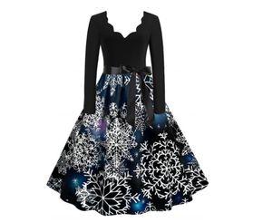 Weihnachten Damen Halloween Retro Lace Vintage Kleid Eine Linie Kürbis Schaukel Kleid, A4-schwarz, S