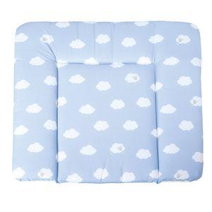 roba Wickelauflage 'Kleine Wolke blau', weiche Wickelunterlage 85x75cm, Wickeltischauflage Polyurethanbeschichtet