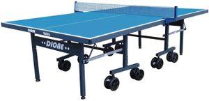 Dione Tischtennisplatte S600o Outdoor - 6mm top - Tischtennistisch Blau TT-Platte klappbar für draußen - 95% Vormontiert