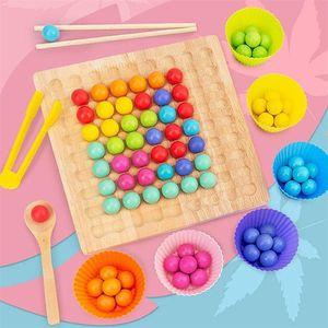 NightyNine Holz Peg Board Perlen Spiel Wooden Go Spiele Set Dots Beads Brettspiele Spielzeug Regenbogen Clip Perlen Puzzle von Holz Clip Perlen Regenbogen Spielzeug