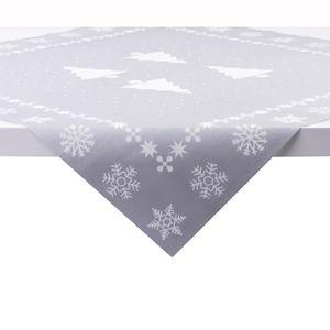 Sovie HOME Tischdecke White Tree in Silber aus Linclass® Airlaid 80 x 80 cm, 1 Stück - Mitteldecke Weihnachten Tannenbau