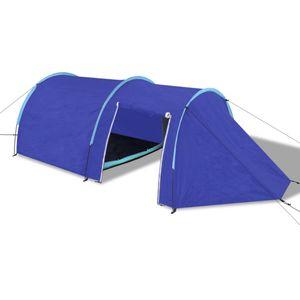 dereoir Camping-Zelt 4 Personen Marineblau  / Hellblau