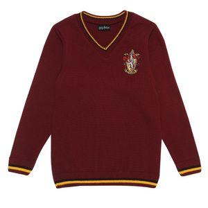 Harry Potter - Gryffindor House Pullover für Mädchen PG1032 (128) (Burgunder)