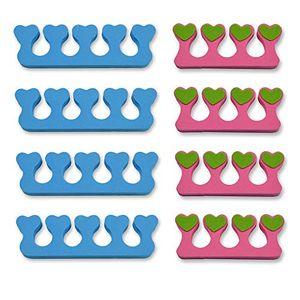 K-Pro Zehenspreizer Fingerspreizer Set 8 Stück Abstandhalter Nägel Lackierhilfe 8 Stück