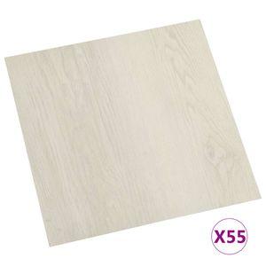 vidaXL PVC-Fliesen Selbstklebend 55 Stk. 5,11 m² Beige