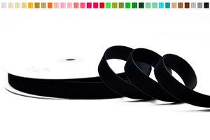 SAMTBAND 16mm, 10 Meter, Farbauswahl:schwarz 030