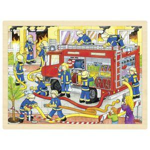 Einlegepuzzle Feuerwehreinsatz, per St
