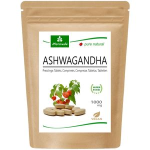 MoriVeda® Ashwagandha Tabletten 1000mg - reines Naturprodukt (120 Tabs)