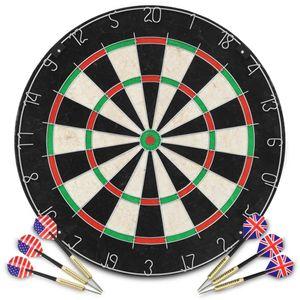 anlund Professionelles Dartboard Sisal mit 6 Darts
