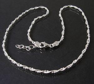 Halskette 2 Ketten Schlangenkette+ Kugelkette 925 Silber 42-45cm 16822-45