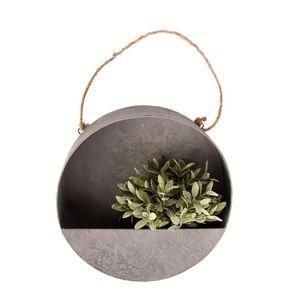 Rivanto® Wand- Pflanzschale Größe L Ø35 x H10,5 cm, , runder Blumentopf für Wandmontage, halboffen, Dekoration für Terrasse und Balkon