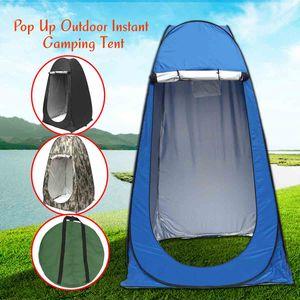 Wasserdicht Duschzelt Toilettenzelt Umkleidezelt PopUp Camping Zelt Beistellzelt Farbe Blau