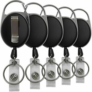 Miixia 5 Stücke Einziehbare Ausweis JoJo Ausweishalter Schlüssel Schlüsselrolle Clip