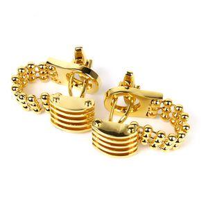 Manschettenknöpfe Der Kupferkristallkette Umwickeln Gold