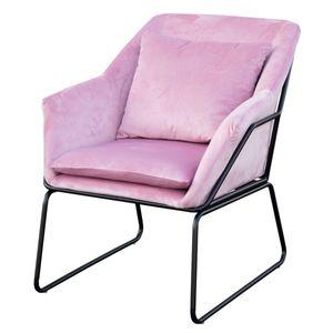 SVITA JOSIE Sessel Samt pink Fernsehsessel Relaxsessel