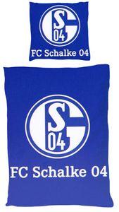 FC Schalke 04 Mikrofaser Bettwäsche Signet 135 x 200 cm
