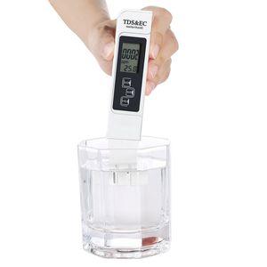 TDS Messgerät, EC und Temperatur Messgerät 3 in 1 Set, Leitwertmessgerät mit hoher Genauigkeit und LCD Display, ATC Wasserqualität Tester für Trinkwasser/Schwimmbad/Aquarium/Pools/Labor