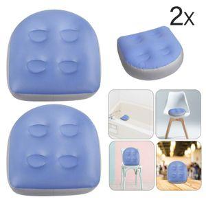 Melario 2x Spa Whirlpool Booster Sitzkissen mit Saugnäpfen für Erwachsene Kinder Blau