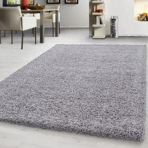 Hochflor Shaggy Teppich einfarbig unicolor teppiche für wohnzimmer , Farbe:HELLGRAU,300 cm x 400 cm