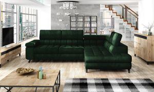 Mirjan24 Ecksofa Nord, Polsterecke vom Hersteller, L-Form Ecke, Bettkasten und Schlaffunktion (Farbe: Fresh 13, Seite: Rechts)
