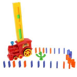 83-teilig Automatisch Dominozug Dominospiel Fahrzeug Spielzeug für Kinder Geburtstagsgeschenk