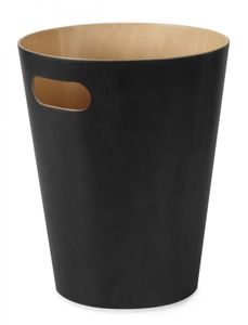 UMBRA WOODROW CAN Mülleimer 7,5 Liter Abfalleimer Papierkorb schwarz 082780-045