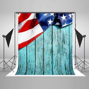 ECZJNT 150x220 cm USA Flagge Fotografie Hintergrund Hintergründe Blue Wood Wall Independence Day Hintergrund