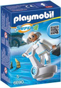 PLAYMOBIL Super 4 6690 - DR X mit Technopolis-Fluggerät und Aktenkoffer