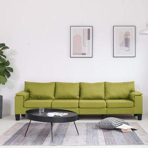 4-Sitzer-Sofa Grün Stoff Wohnlandschaft-Sofa Relaxsofa für Wohnzimmer Schlafzimmer Esszimmer