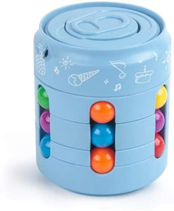 NightyNine Magic Bean Rotating Cube Toy, Kreatives Magic Bean rotierendes Spielzeug Kinder Intelligence Fingertip Zauberwürfel Development Lernspielzeug Intellektuelles Spiel für Kinder Stress Angst Linderung - Blau