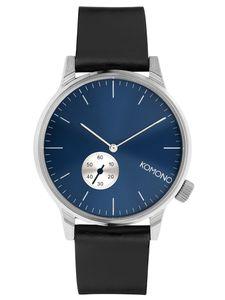 Komono KOM-W3001 Armbanduhr Winston Subs Silber/Blau