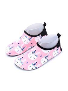ydance Kinder Jungen Und Mädchen Rutschfeste Schwimmsocken Schnelltrocknende Tauchsocken,Farbe: Pink Kätzchen,Größe:24-25