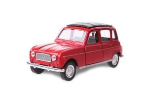 Welly maßstabgetreues Modell Renault 4 Jungen 12 cm Stahl rot