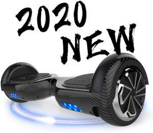 MARKBOARD Hoverboard,Elektro Scooter 6,5 LED E-Balance Scooter mit Motorbeleuchtung E-Skateboard Elektroroller Bluetooth LED carbon schwarz