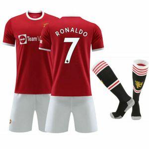 2021/22 Manchester United Heim Trikot Cristiano Ronaldo #7 Sportbekleidung-Sets, Größe: S