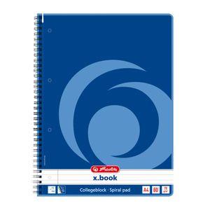 Herlitz Collegeblock / DIN A4 / Spiralblock / liniert / 80 Blatt