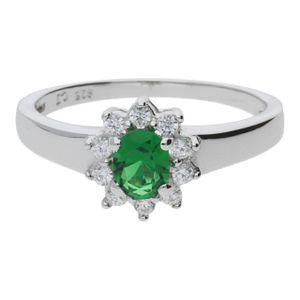 JuwelmaLux Ring in Silber mit syntetischem Smaragd JL07-0027-10