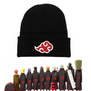 1 Stück#Winter Naruto Xiaoyun bestickte Garn Mütze Hut-Schwarz