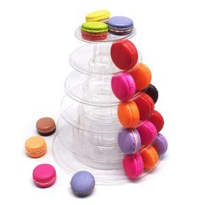 6 Lagiger Runden Macaron Turm Ständer Display Rack Desserts Anzeige für Hochzeit Geburtstag Kuchen Cupcake Nachbildung