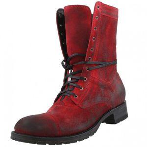 Sendra Herren Schnürstiefel 9058 Rot, Schuhgröße:EUR 41