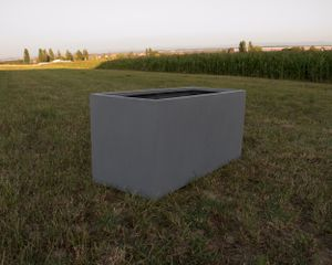 Pflanztrog, Pflanzkübel Fiberglas als Raumteiler 120x50x55cm grau.