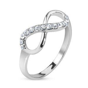 52 (16.6) Ring Infinity silber Unendlichkeits Symbol Edelstahl schmal(Ring Damen Fingerring Partnerringe Verlobungsringe Trauringe Damenring Edelstahlring Chirurgenstahl)