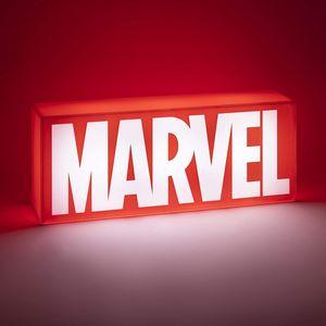 Marvel Logo Dekoleuchte   Dekorative Lampe mit 2 Leuchtmodi   14 cm x 7 cm x 30 cm